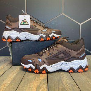 Fila Oakmont Trail Mid Brown Orange Boots Size 10